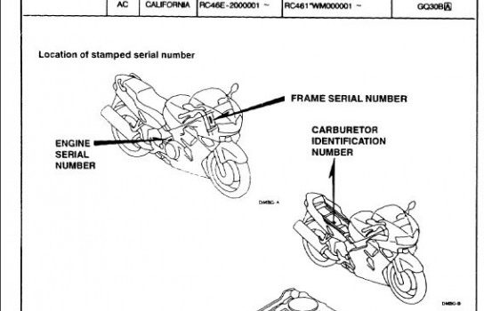 Honda VFR 800 parts catalog