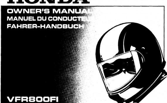 Honda vfr user owners manual